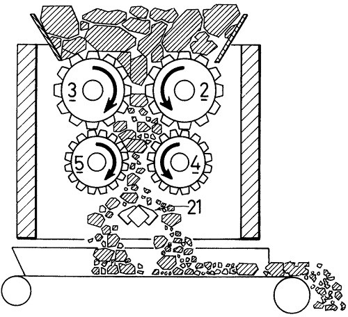 Working Diagram of Toothed Roll Crusher