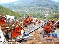 Working site of jaw crusher