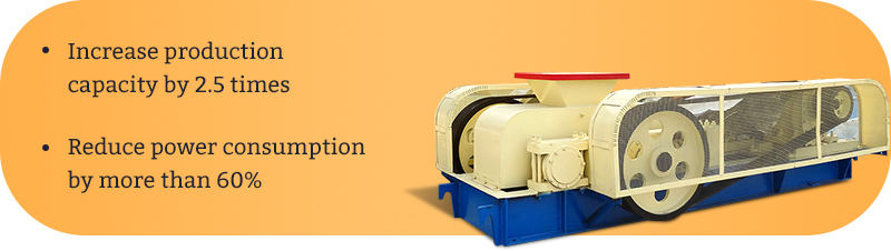The characteristics of toothed roll crusher