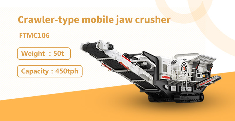 The characteristics of crawler-type mobile jaw crusher