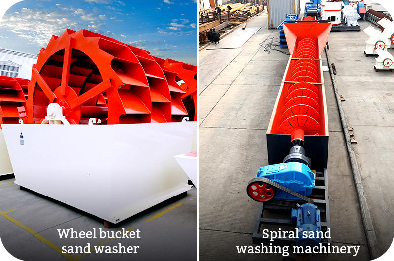Wheel  bucket sand washer VS Spiral sand washing machinery