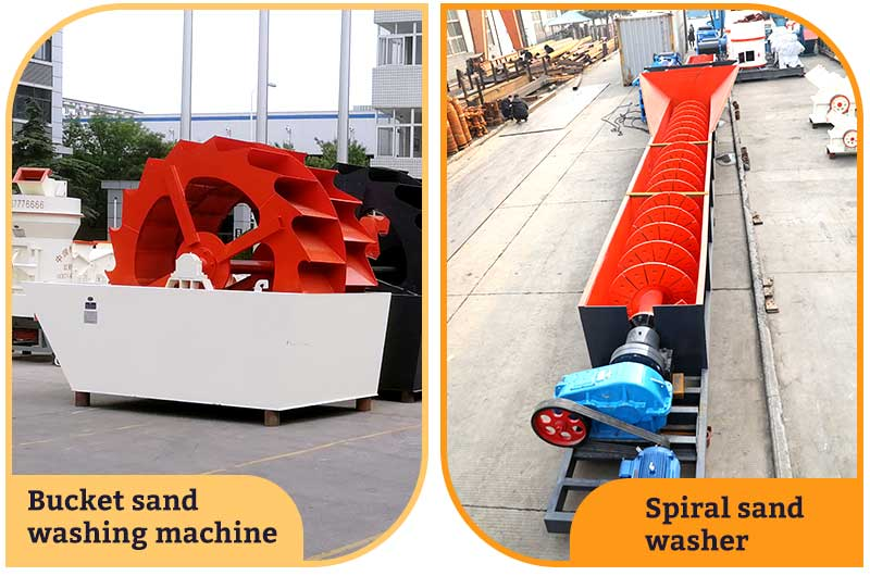 Bucket sand washing machine VS Spiral sand washer